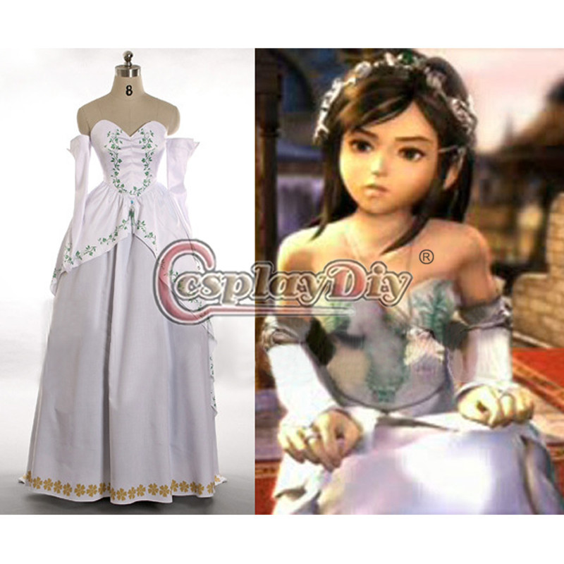 Cosplaydiy Custom Made Final Fantasy IX Costume Garnet Princess Bride Gown Halloween Costume For Women Anime Cosplay Costume
