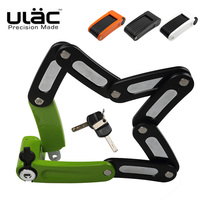 Folding Portable Bicycle Lock Anti theft Strong Sercurity Mini Zinc Alloy Lock with 2 Keys MTB Road Bike Motorcycle Steel Lock