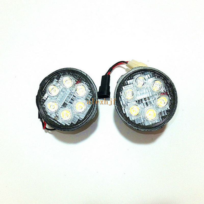 July King 6500K 18W LED Fog Lamps DRL Case for Nissan Cube Evalia Juke Murano Note Patrol Quest Sunny Tiida Rouge Versa etc крышка бензобака для автомобиля nissan cube екатеринбург