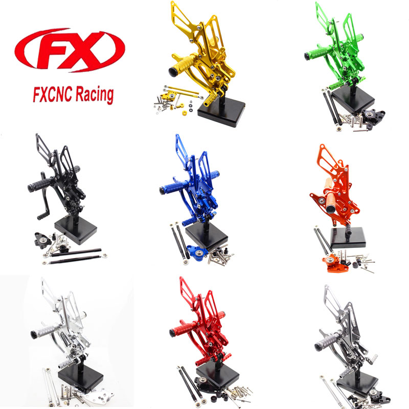FX CNC Adjustable Motorcycle Foot Rests Rear Sets Footpegs Fit for HONDA CBR600RR CBR 600RR 2003 2004 2005 2006 Rearset hatber тетрадь серебро 96 листов в клетку