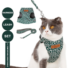 Cat Harness And Leash Set Soft Mesh Puppy Kitten Vest With Bell Cute Printing For Small Medium Dogs Cats Chihuahua Yorkie