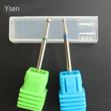 2Pcs/set Round Diamond Nail Drill Bits Rotary Burr Milling Cutter Electric Manicure Machine Nail Art Clean Accessories