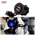 Motorcycle Cigarette Lighter Waterproof 5V 3.1A Dual USB Motorcycle Charger Socket Outlet Panel Mount Charges for iPhone/iPad