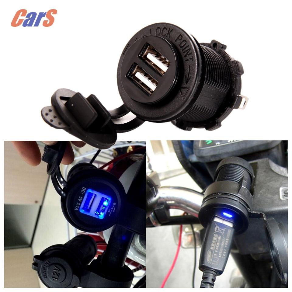 Motorcycle Ծխախոտի թեթև 5V 3.1A երկակի USB - Ավտոպահեստամասեր - Լուսանկար 2