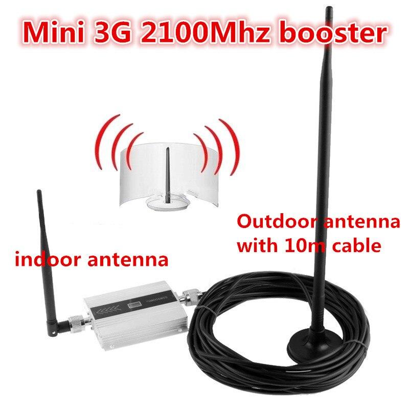 Mini W-CDMA 2100 Mhz 3G Répéteur WCDMA Répéteur de Signal 3G téléphone mobile répéteur booster Amplificateur couverture 200 carré 3g booster