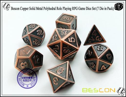 polyhedral d & d dice conjunto 7