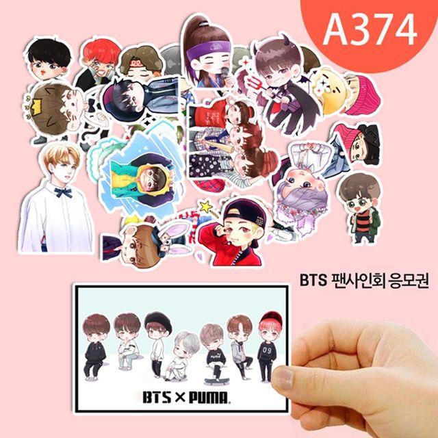 cute cartoon kpop fashion bangtan boys bts j hope suga jung kook decal stickers scrapbook