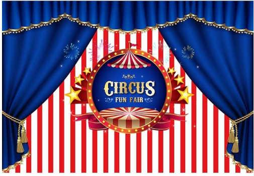 Цирковая палатка Королевский синий занавес счастливый фон для фотосъемки на