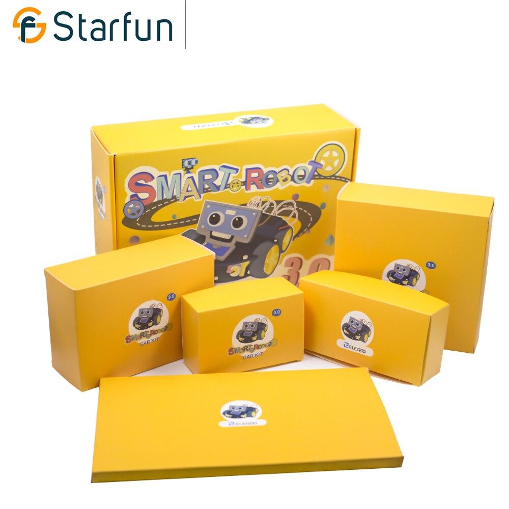 Starfun Multi-fonctionnelle Intelligente Robot Voiture Kit avec UNO R3, Capteur À Ultrasons, Bluetooth Module pour Arduino