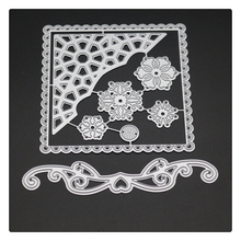 1748 Flowers Cover Scrapbook Metal Cutting Dies For Scrapbooking Stencils DIY Album Cards Decoration Embossing Folder Die Cuts парка la redoute с капюшоном средней длины xl зеленый