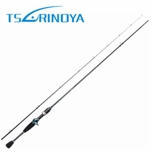 Tsurinoya 1.89m UL Carbon Casting Rod 0.6-8g Lure Weight Ultralight Spinning Fishing Rods 2 Sections Lure Fishing Rods Baitcast