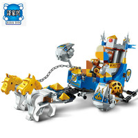 Building Block War Of Glory Castle Knights Two Horse Chariot 3 Figures 246pcs Educational Bricks Lepins