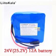 HK LiitoKala 24 v 12ah 6S6P batterie pack 25.2 V 12000 mah batterie li-ion pour batterie de vélo pack 350 w e vélo 250 w (pas de chargeur)