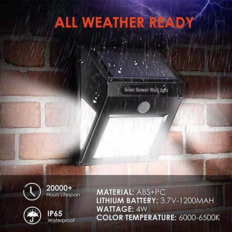 60Led Motion Sensor Auto Solar Lamp Waterproof Wall Portable Camp Flashlight Garden Public Road Outdoor Lamp Light Bulb Lantern