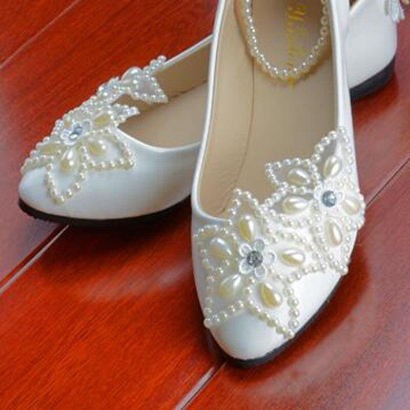 New Fashion Five Stars font b Women b font Wedding Shoes Pearls Bandage font b Women
