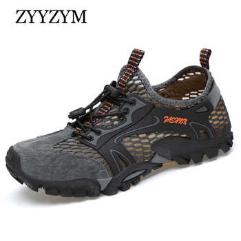 ZYYZYM Men Mesh Casual Shoes Summer Adult Breathable Light Quality Outdoor Wadin Walking Men Shoes Fashion Sneakers Footwear - DISCOUNT ITEM  30% OFF All Category