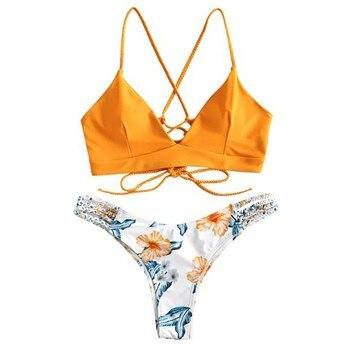 1d89493e4ff8 Traje de baño Tanga volantes una pieza traje de baño mujer ropa de playa  Badpak verano Banador ...