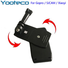 for Go pro Accessories 360 Degree Quick Release Rotary Backpack Strap Clip Fast Clamp Mount For GoPro  5 4 3 Xiaomi Yi SJCAM Cam