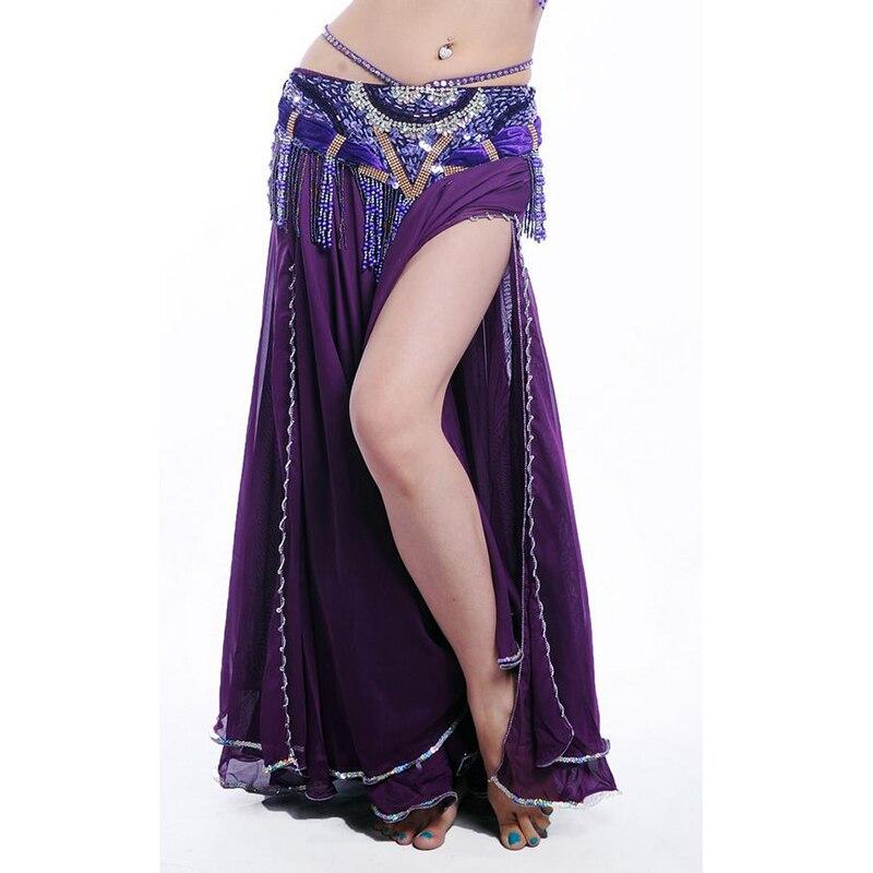 Dancewear Chiffon Waving Cut Belly Dancing Skirts For Ladies Elegant Revolving Dancing Skirts More Colors #68186