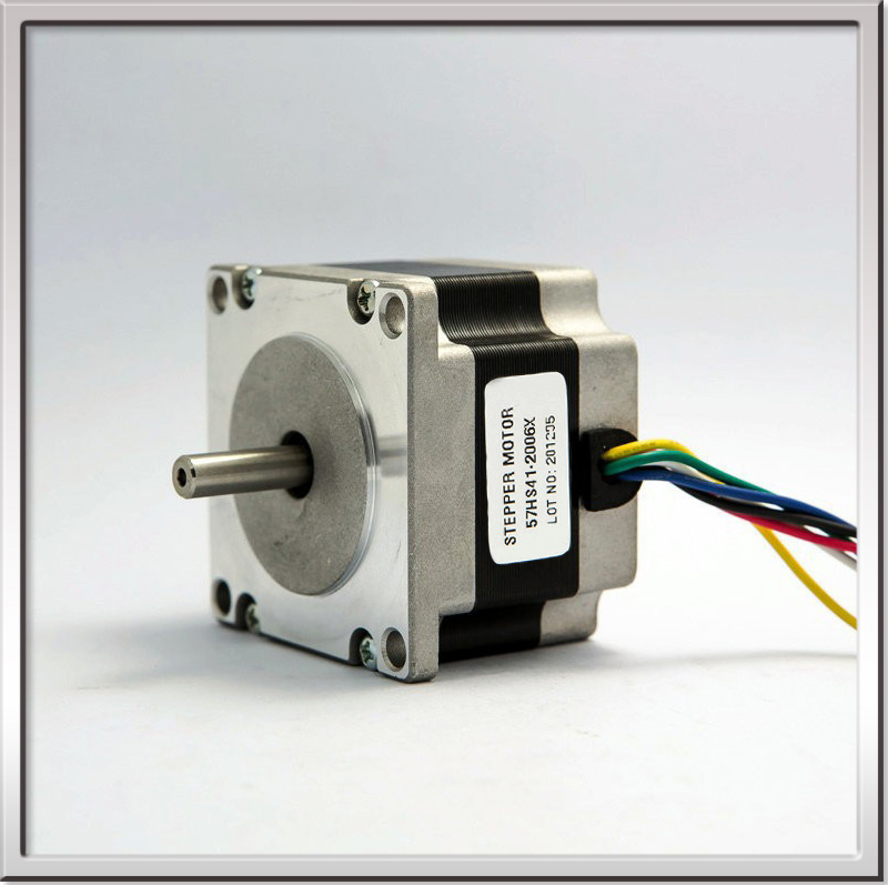 Free shipping CE ROHS NEMA23 1.8degree 57mm 2 phase hybrid stepper motor 57HS41-2006 24v 10w 2A 6-wire for Engraving 3d printer домкрат lom 1550271