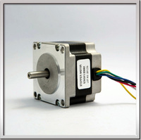 Free shipping CE ROHS NEMA23 1.8degree 57mm 2 phase hybrid stepper motor 57HS41 2006 24v 10w 2A 6 wire for Engraving 3d printer