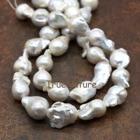 Fashion Baroque Natural Freshwater Pearl Beads Irregular Shape Pear Loose Beads Full Strands 10 Pieces 15*23 mm BE5649