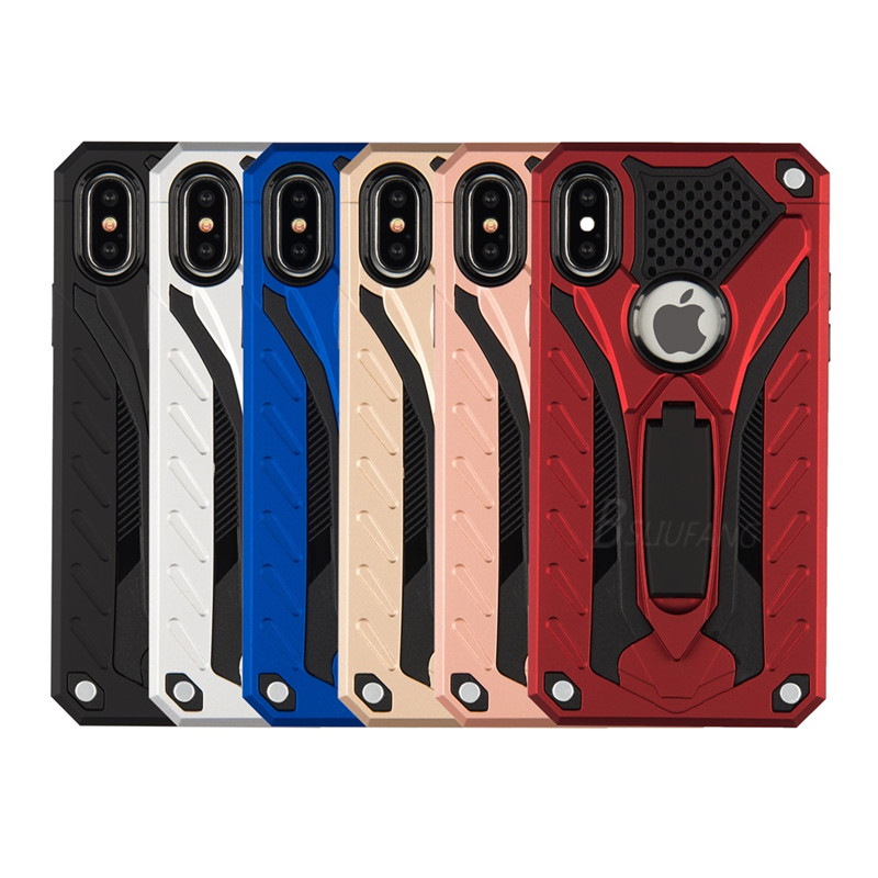 BSLIUFANG Shockproof Military Drop Tested Case For iPhone 6 6s 7 8 Plus Hard Cover Coque Funda For iPhone X XS MAX XR Cover Case