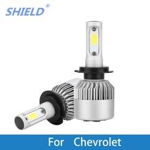 цена на 2Pcs LED Car Headlamp 12V LED 8000LM 6500K White LED H4 H7 H11 Auto Light Bulb For Chevrolet Cruze Orlando Captiva Epica Lacetti