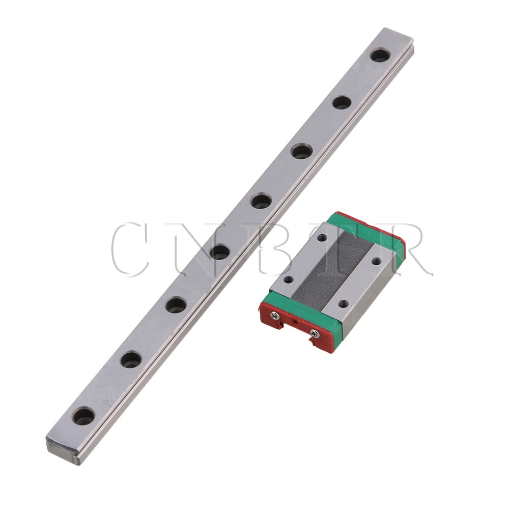 CNBTR Bearing Steel 20cm MGN12 Linear Sliding Guide Rail & Extension Block Set for High Precision Measurement Manufacturing toothed belt drive motorized stepper motor precision guide rail manufacturer guideway