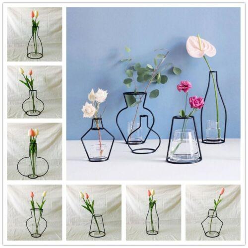 Nordic Minimalist Abstract Vase Lines Black A Iron Vase Flower Vase Dried Flower