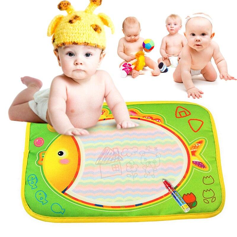 Детские Каракули картина Вода Рисование Играть Мат Рисунок Игрушки Совет подарок с Волшебное перо BM88