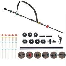 """Pistola sopladora de juguete para caza y tiro/arma de tiro de 36 y 48"""", negra, con 48 dardos/. Tubo de aluminio calibre 40 W. Agarre cómodo"""