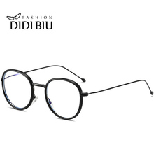 Фотография DIDI Anti Blue Ray Computer Gaming Eyeglasses Women Men Round Metal Frame Glasses Optical Transparent Korean Eyewear Brands U810
