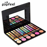 POPFEEL 78 Colors Matte Eyeshadow Palette With Blush Bronzer Highlighter Eyebrow Powder Contouring Lipstick Beauty Makeup