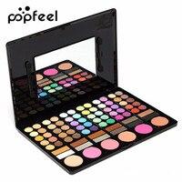 POPFEEL 78 Colors Matte Eyeshadow Palette With Blush Bronzer Highlighter Eyebrow Powder Contouring Lipstick Beauty Makeup
