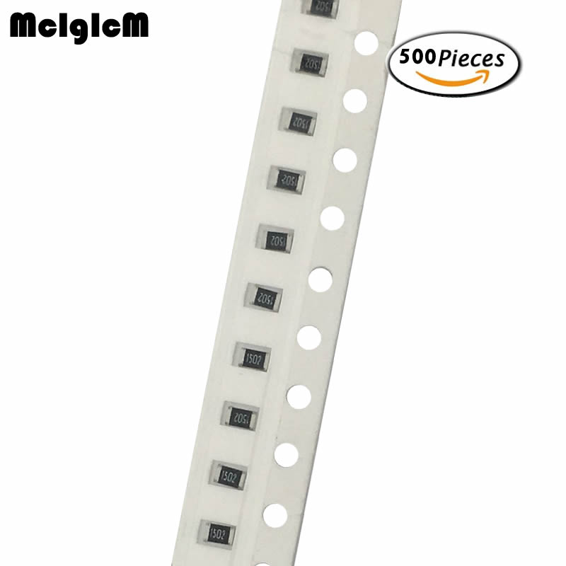 MCIGICM 500pcs 1% 0805 Smd Chip Resistor Resistors 0R-10M 1/8W 1K 4.7K 5.1K 10K 22K 47K