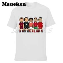 Men's legends portugal Rui Costa Luis Figo Eusebio Vitor Baia Cristiano Ronaldo T-shirt Clothes T Shirt tee W0523025