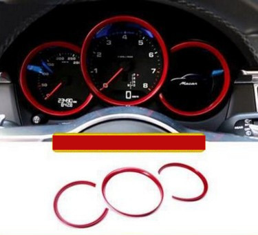 Car dashboard decorative light strip three kinds of colors for PORSCHE Macan S turbo cayenne Panamera S car-styling 3D sticker car navigation control panel decorative frame dedicated interior refit for porsche macan s turbo cayenne panamera s 3d sticker