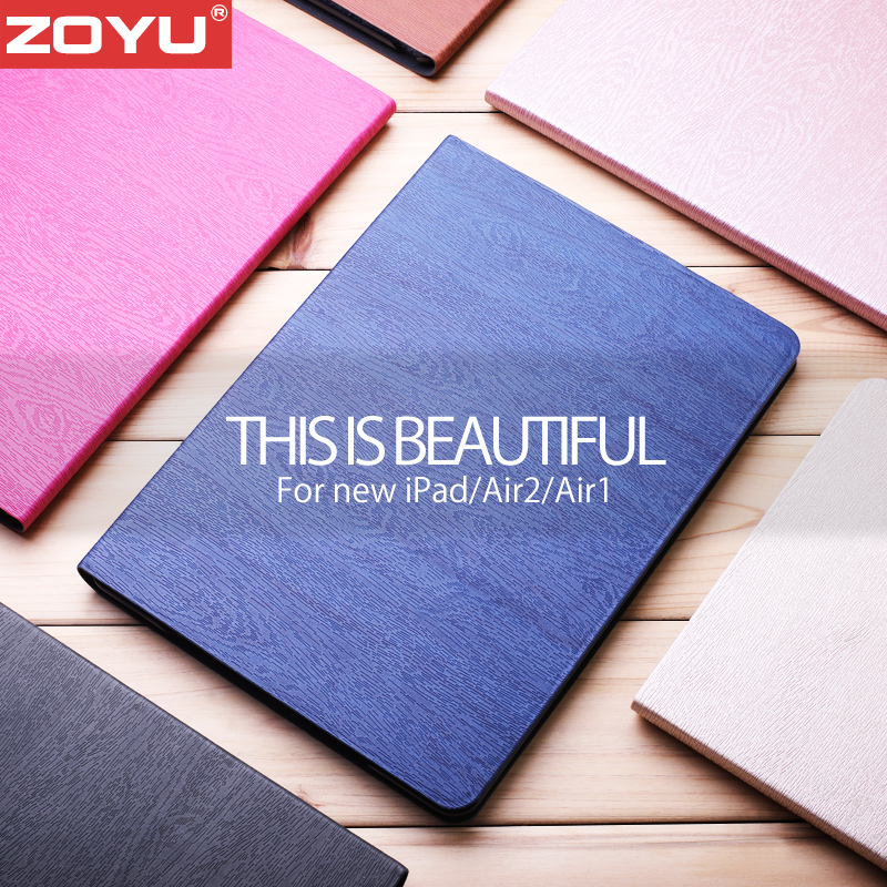 ZOYU New Fashion Smart Case for iPad Air 1 Air 2 Case PU Leather Cover Case For iPad 5/6 NEW smart for iPad 9.7 case tablet case cover for ipad air 1 szegychx shockproof retina smart case slim designer pu protetive cover for ipad 5