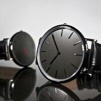 להקה שחורה Relojes שעונים גבריים 2018 מפיק סין שעון מקצועי עיצוב קלאסי שעוני פנים
