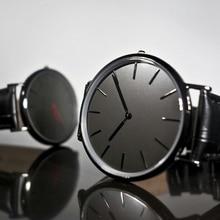 Relojes noir bande mâle horloges 2016 conception chine professionnel montre producteur classique horloges visage