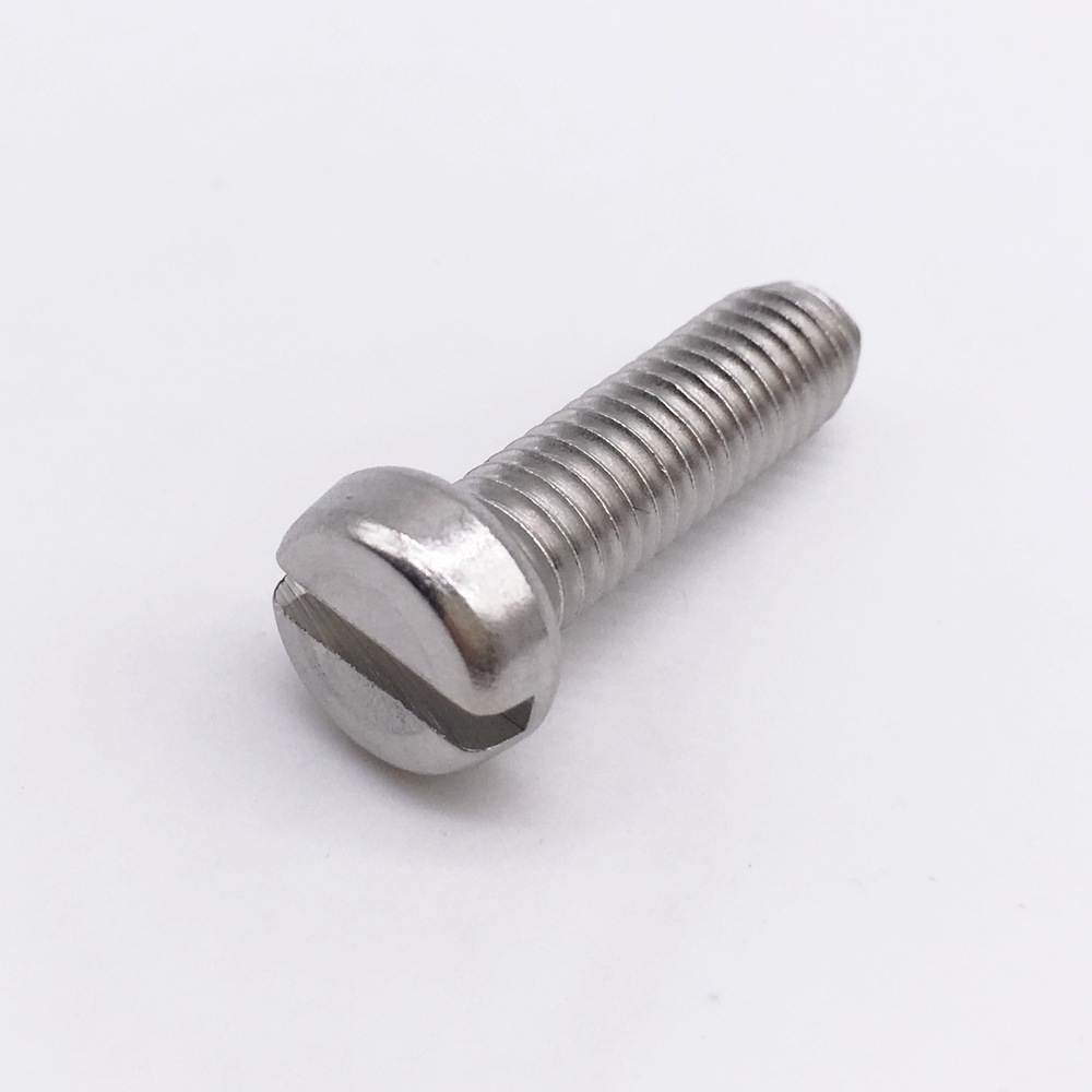 M5 Screws Cheese Head Slotted Right Hand Threads Metric Stainless Steel ned 25x25x16mm practical stainless steel corner brackets joint fastening right angle 2mm thickened home brackets with screws