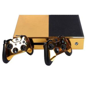 Image 2 - Gold Glossy Skin Sticker For Xbox ONE Console Controller + Kinect Decal Vinyl Compatible with Xbox One console