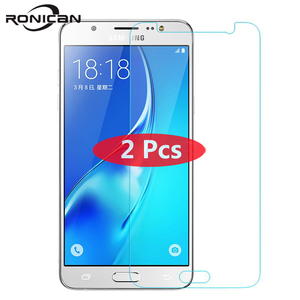 Image 1 - 2Pcs Tempered Glass For Samsung Galaxy S6 S5 S4 A5 A3 A710 J3 J5 2016 J2Prime G5308 Grand Prime Screen Protector Protective Film