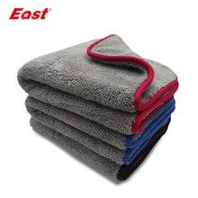 East toallas de limpieza para el hogar, de terciopelo Coral de doble cara, súper absorbentes, para el cuidado del coche, doble capa