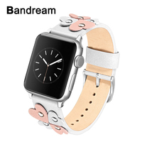 Female Genuine Leather Watchband for iWatch Apple Watch 38mm 40mm 42mm 44mm Series 4 3 2 1 Band Steel Clasp Strap Wrist Bracelet