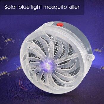 Lámpara Solar con forma de zumbido para matar insectos, trampa eléctrica, antiinsectos, Wasp