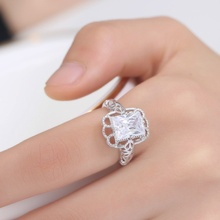 4 color Fashion Trend Jewelry Zircon Copper Rings for Women Engagement & Wedding Birthday Gift Jewelry#154