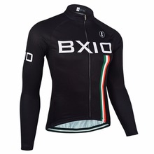 Bxio Men's Winter Thermal Fleece MTB Cycling Jersey Shirt Bike Jersey Pro Bike Team Long Sleeves Ropa Ciclismo Hombre 095-J