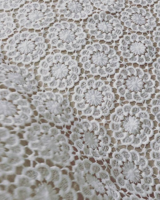 2018 Newest Luxury Design French Lace Fabric African Off White
